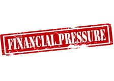 Financial pressure. Rubber stamp with text financial pressure inside,  illustration Stock Photography