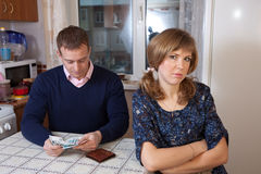 Financial problems in the family Stock Image