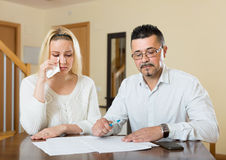 Financial problems in the family Stock Images