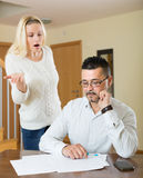 Financial problems in the family Royalty Free Stock Images