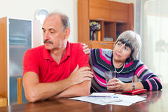 Financial problems in  family Stock Images