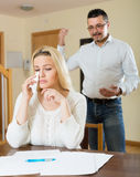 Financial problems in the family Stock Photos