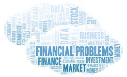 Financial Problems word cloud. royalty free stock images