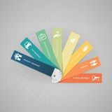 Financial products. Color book swatches with financial products and icons set Royalty Free Stock Image