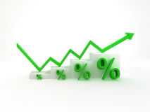 Financial profit. Financial chart shows growth in investment Stock Image