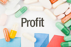 Financial profit of pills sale concept Stock Photo