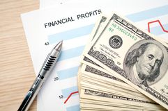 Financial profits Stock Photography