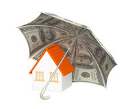 Financial protection. Home insurance. 3d Royalty Free Stock Photo