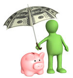 Financial protection. Insurance of bank contributions Stock Photography
