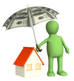 Financial protection. Home insurance. 3d Royalty Free Stock Photos