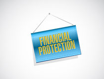 Financial Protection banner sign concept. Illustration design graphic Royalty Free Stock Photos