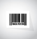 Financial Protection barcode sign concept. Illustration design graphic Royalty Free Stock Photo