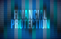 Financial Protection binary background sign. Concept illustration design graphic Royalty Free Stock Photography