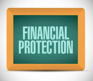 Financial Protection board sign concept. Illustration design graphic Royalty Free Stock Image