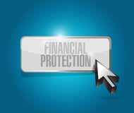 Financial Protection button sign concept. Illustration design graphic Stock Photo