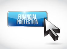 Financial Protection button sign concept. Illustration design graphic Royalty Free Stock Photos