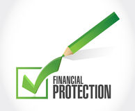 Financial Protection check sign concept. Illustration design graphic Stock Images