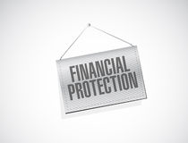 Financial Protection hanging banner sign concept. Illustration design graphic Royalty Free Stock Images