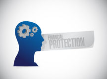 Financial Protection head sign concept. Illustration design graphic Stock Photos