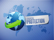 Financial Protection international background sign. Concept illustration design graphic Royalty Free Stock Photography