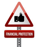 Financial Protection like sign concept. Illustration design graphic Stock Photos