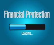 Financial Protection loading bar sign concept. Illustration design graphic Royalty Free Stock Photo