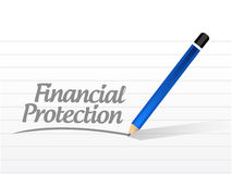 Financial Protection message sign concept. Illustration design graphic Stock Photography