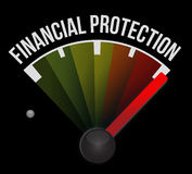 Financial Protection meter sign concept. Illustration design graphic Stock Photo