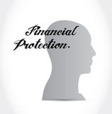 Financial Protection mind sign concept. Illustration design graphic Royalty Free Stock Photos