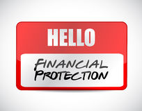 Financial Protection name tag sign concept Royalty Free Stock Images