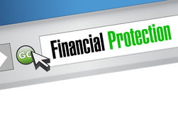 Financial Protection online browser concept. Illustration design graphic Stock Photo