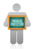 Financial Protection people sign concept. Illustration design graphic Stock Image