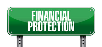 Financial Protection post sign concept Stock Image