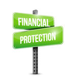 Financial Protection road sign concept. Illustration design graphic Stock Photos
