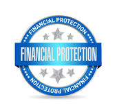 Financial Protection seal sign concept. Illustration design graphic Royalty Free Stock Photography