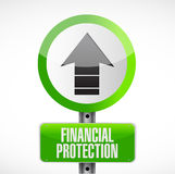 Financial Protection street sign concept. Illustration design graphic Royalty Free Stock Images