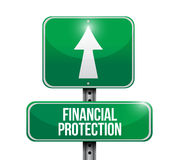 Financial Protection street sign concept. Illustration design graphic Stock Photo