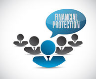 Financial Protection teamwork sign. Concept illustration design graphic Stock Photo