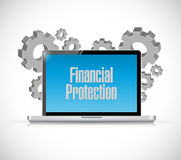 Financial Protection tech computer sign concept Royalty Free Stock Images