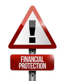 Financial Protection warning sign concept Royalty Free Stock Photo