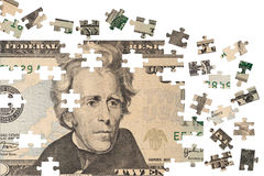 Financial puzzle Royalty Free Stock Photo