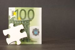 Financial puzzle piece Stock Photography
