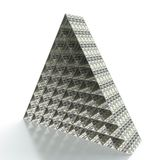 Financial pyramid. 3D render of financial pyramid on white background Stock Photo