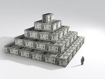 Financial pyramid. 3D concept illustration Stock Images