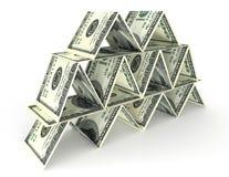 Financial pyramid Royalty Free Stock Images