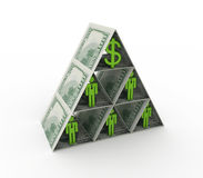 Financial pyramid concept. On white background.3d rendered Royalty Free Stock Photos