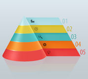 Financial pyramid with numbered tabbed. Illustration Royalty Free Stock Image