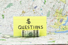 Financial Questions Stock Photo