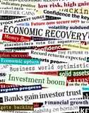 Financial recovery headlines. Background editable vector design of newspaper headlines about economic recovery Royalty Free Stock Photography