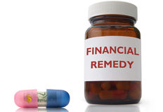 Financial remedy Stock Photography